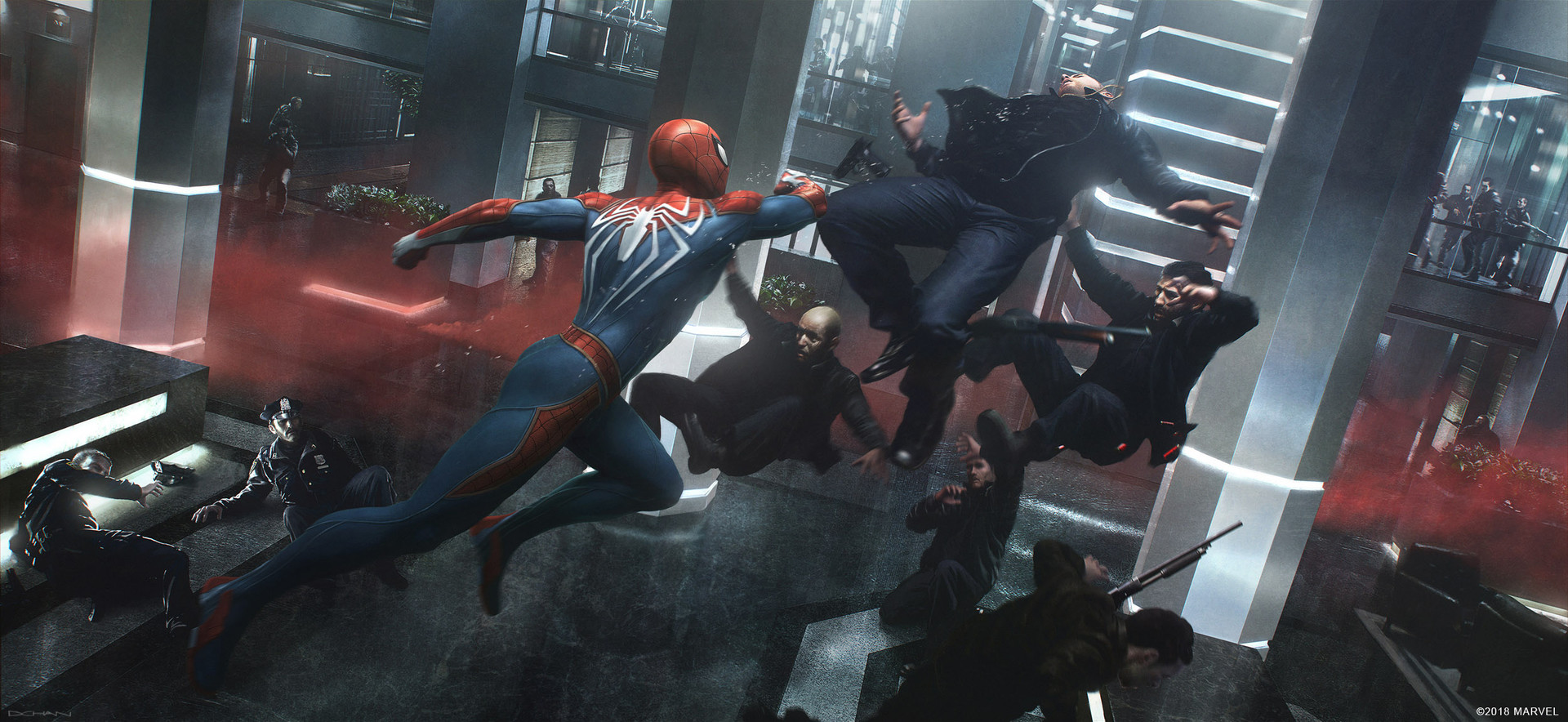 SPIDER-MAN PS4: Amazing Keyframe Concept Art Features Doc Ock