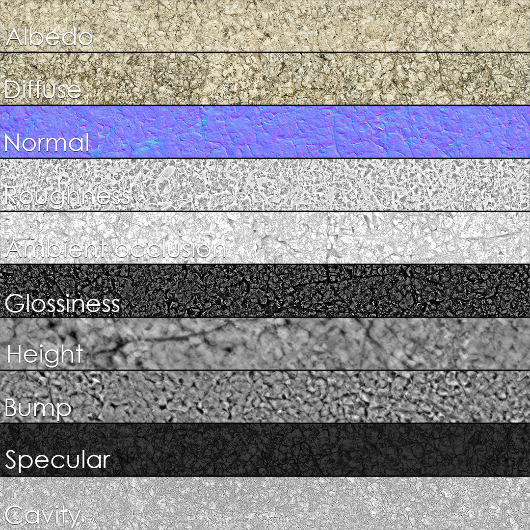 Variation A, texture set