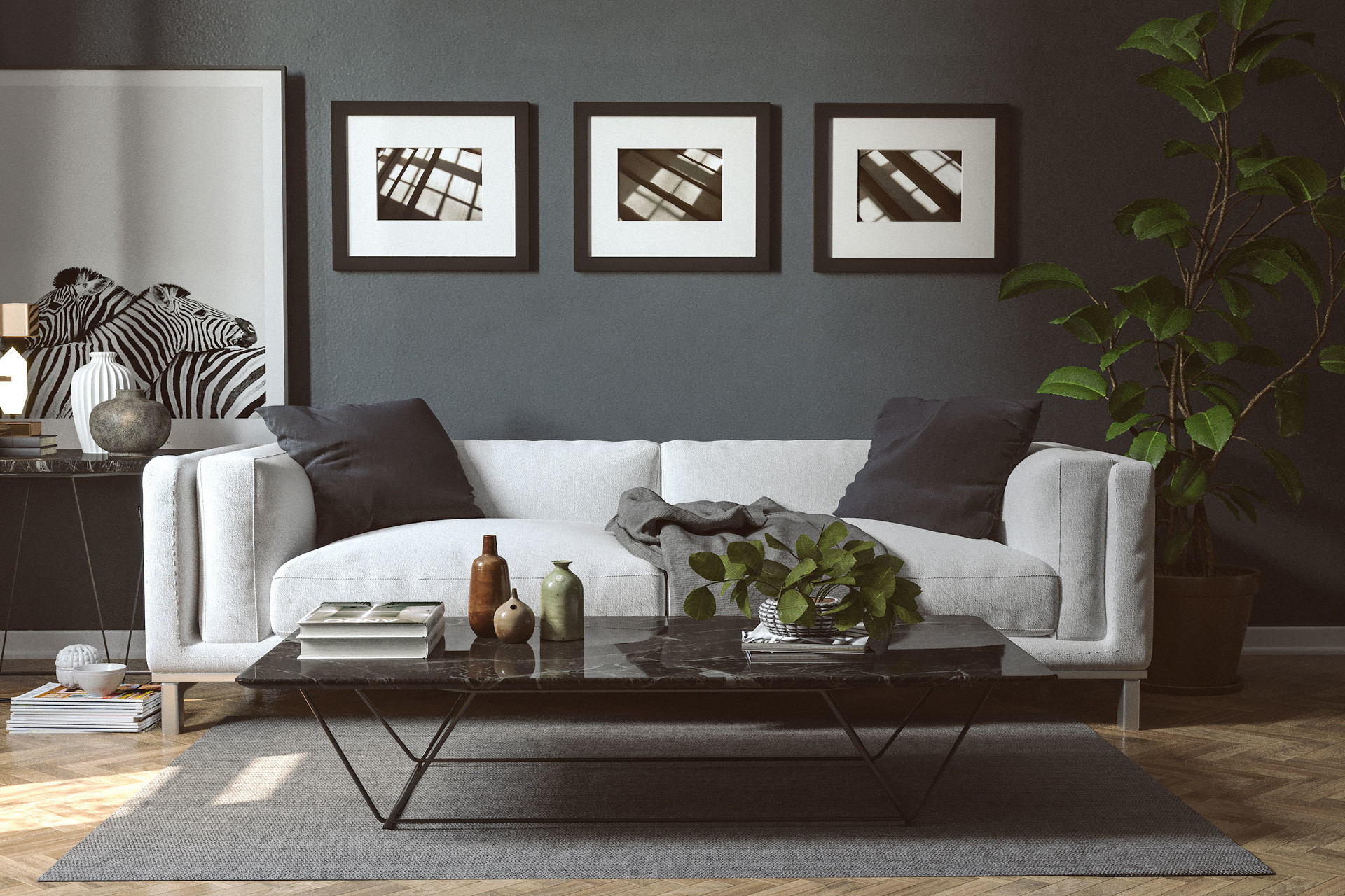 Personal Design Sofa Render With Corona