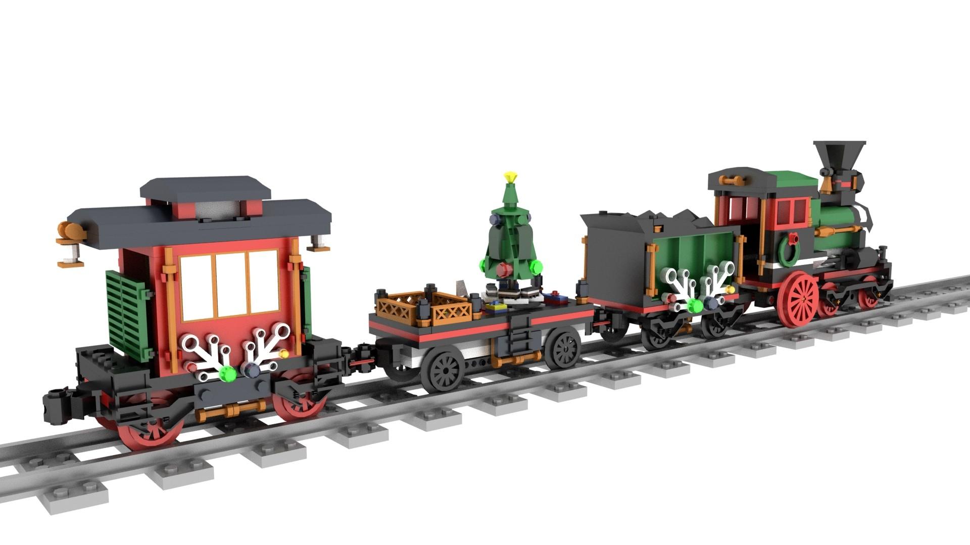 Lego Christmas Train.Tavo Romero Lego Christmas Train