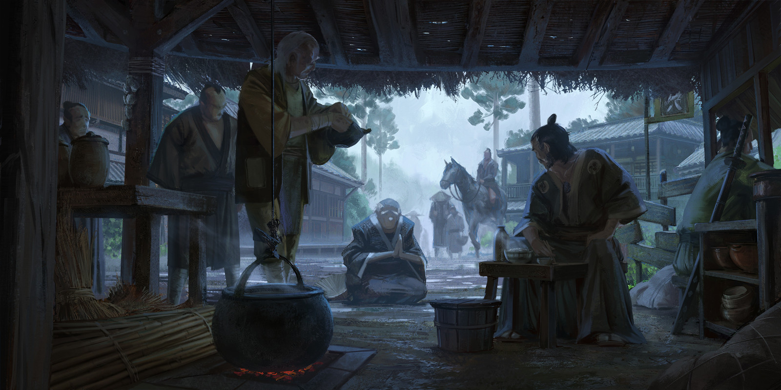 Artstation Challenge - The Shogunate Keyframes -