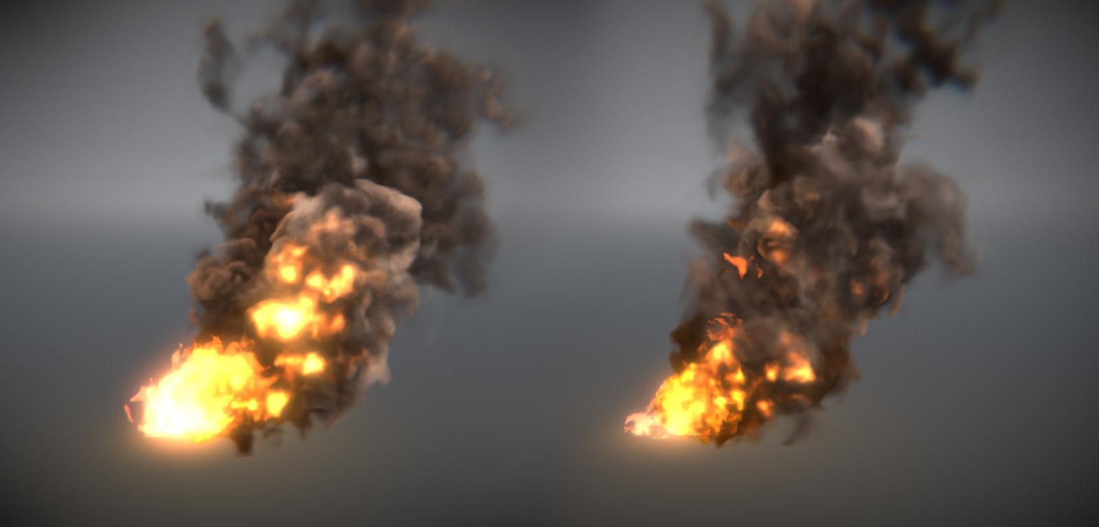 Ivan Grudinin - Burning smoke (Unity real-time / Shader Graph)