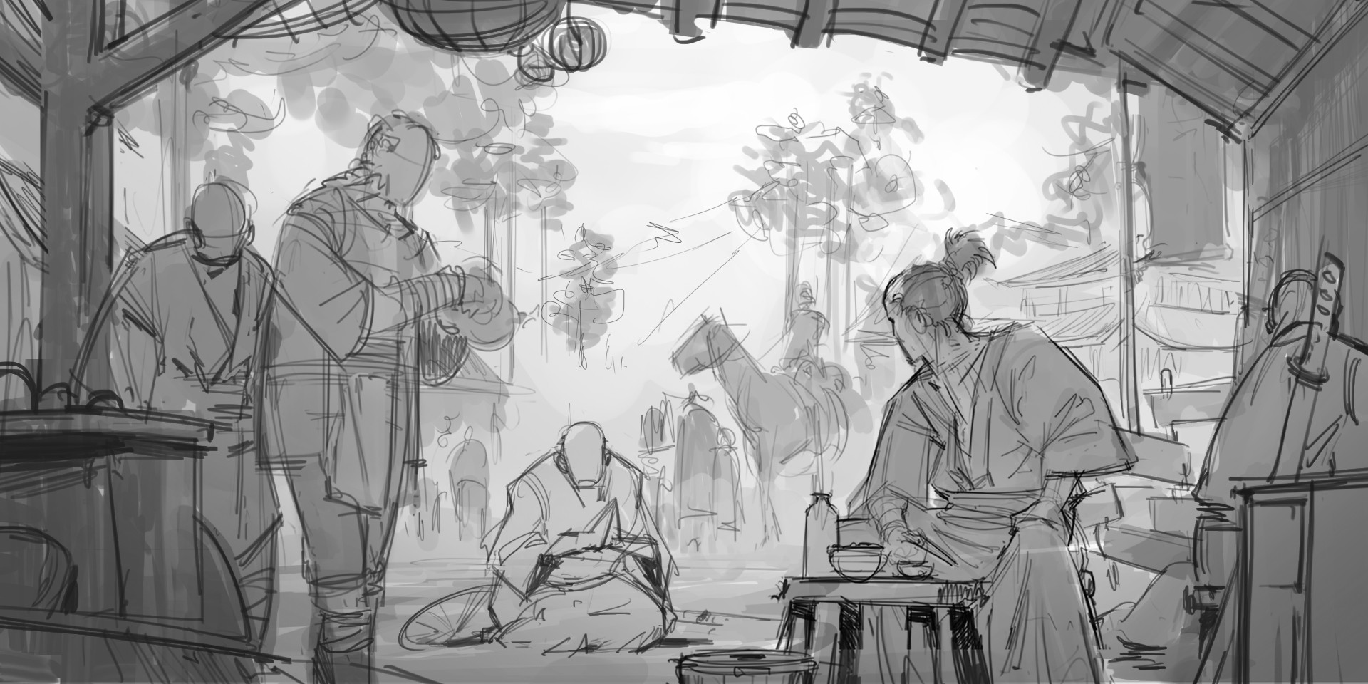 Klaus pillon theshogunate keyframes sketch 001