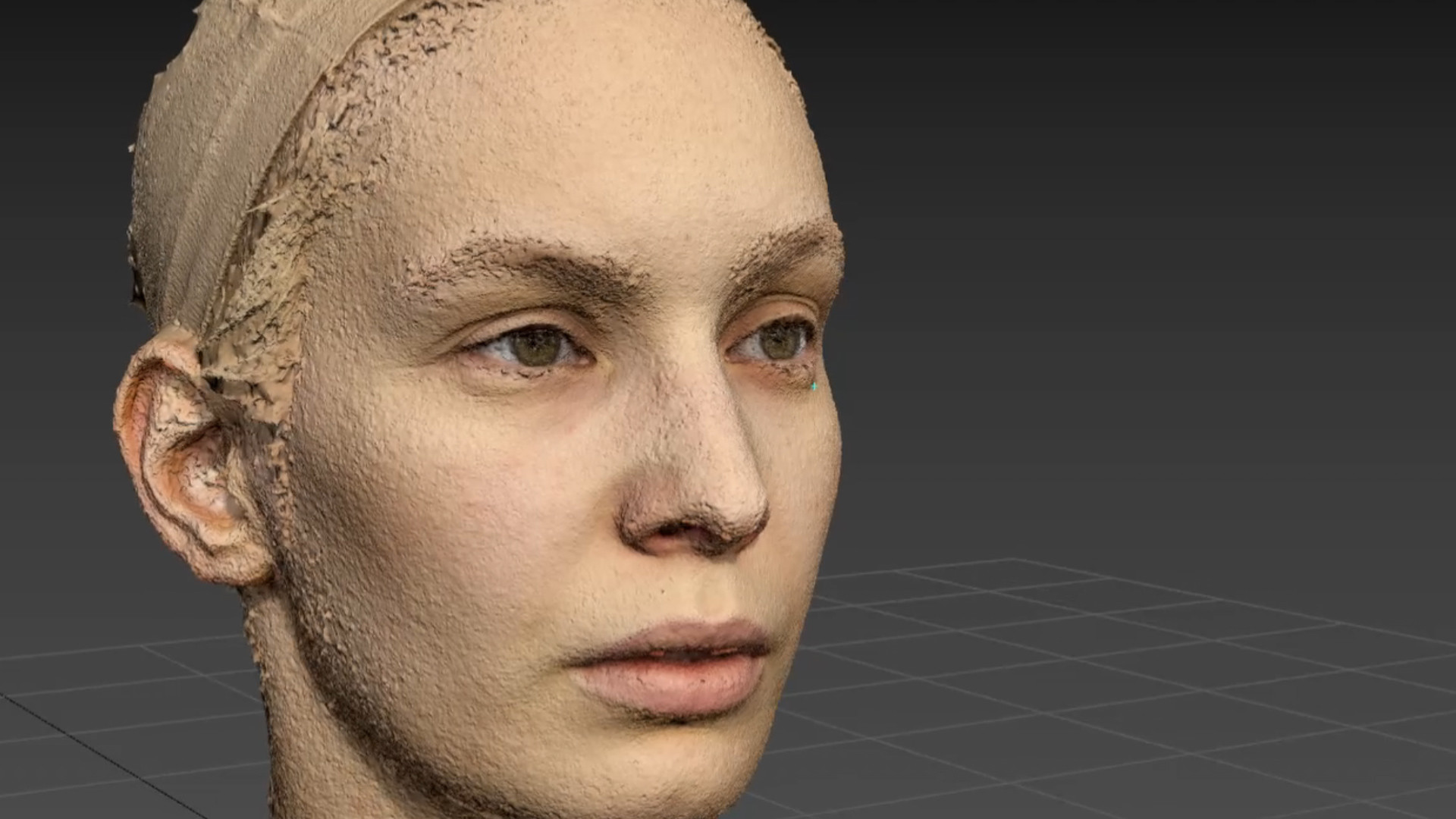 A facial scan of Laura Trapp, one of our talented actors.