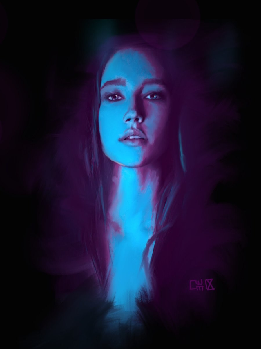 Studies in Neon - iPad paintings