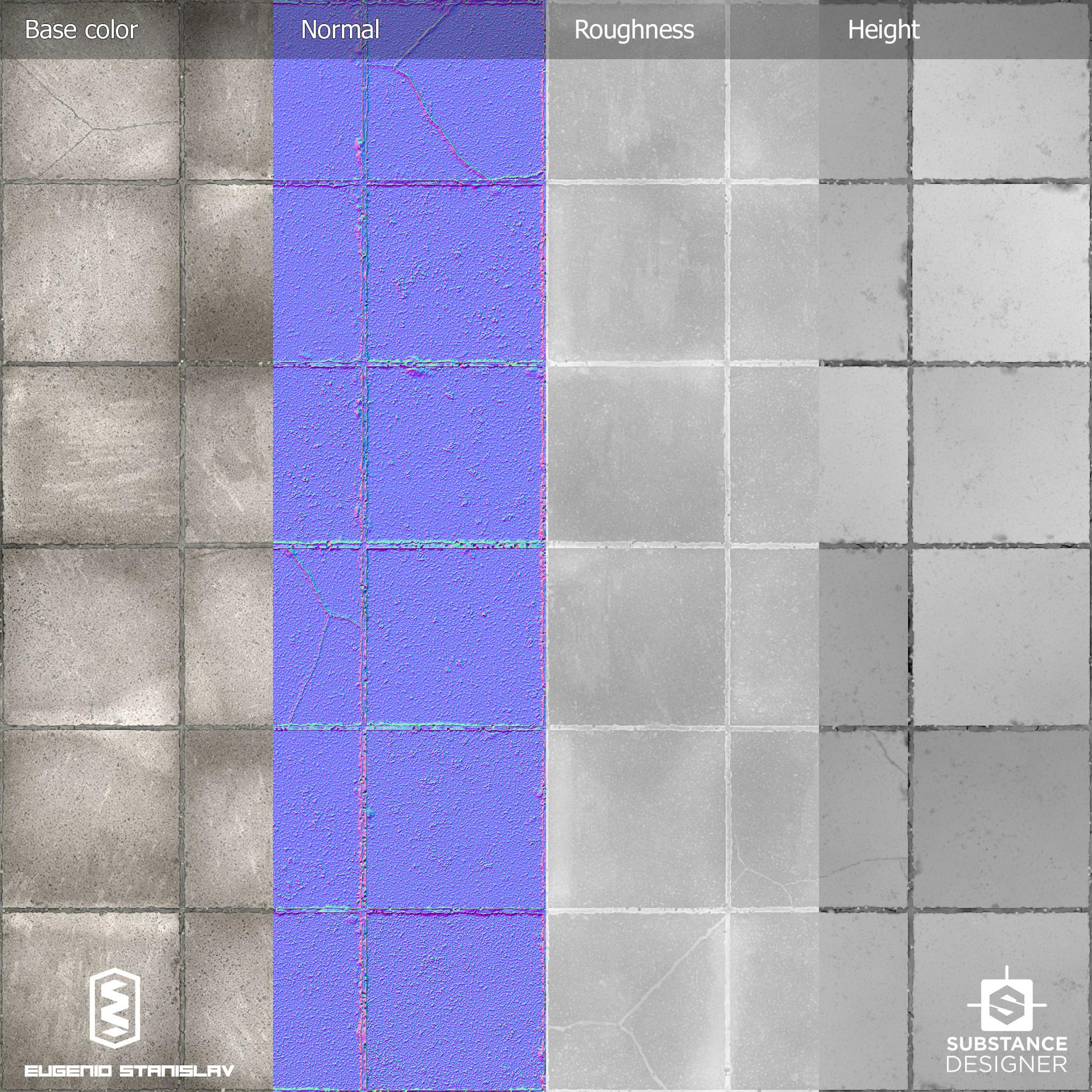 Eugenio stanislav concrete plain tiles maps