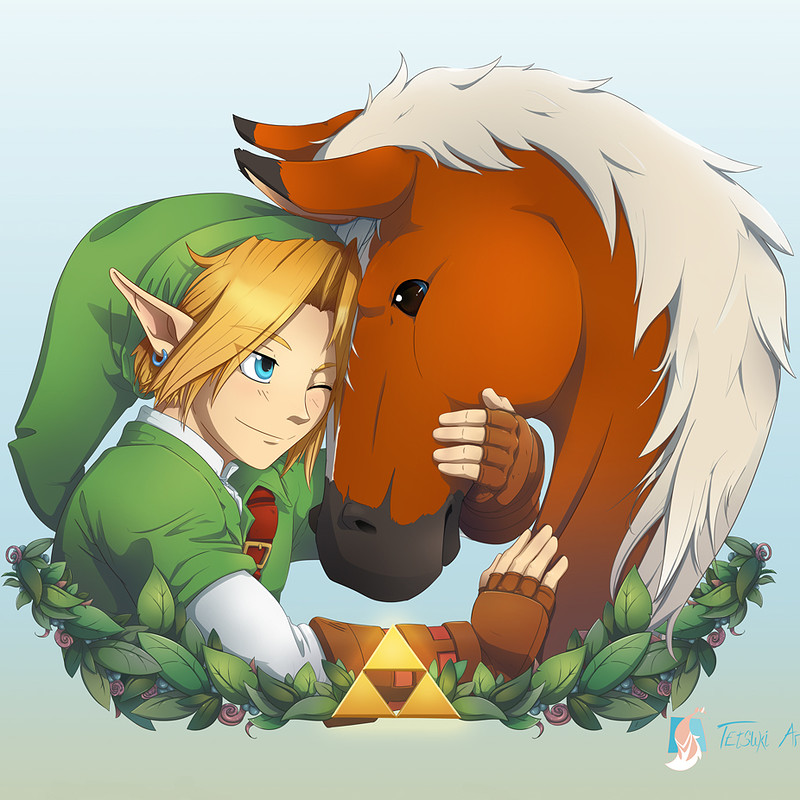 Link and Epona - Ocarina of Time Fan Art