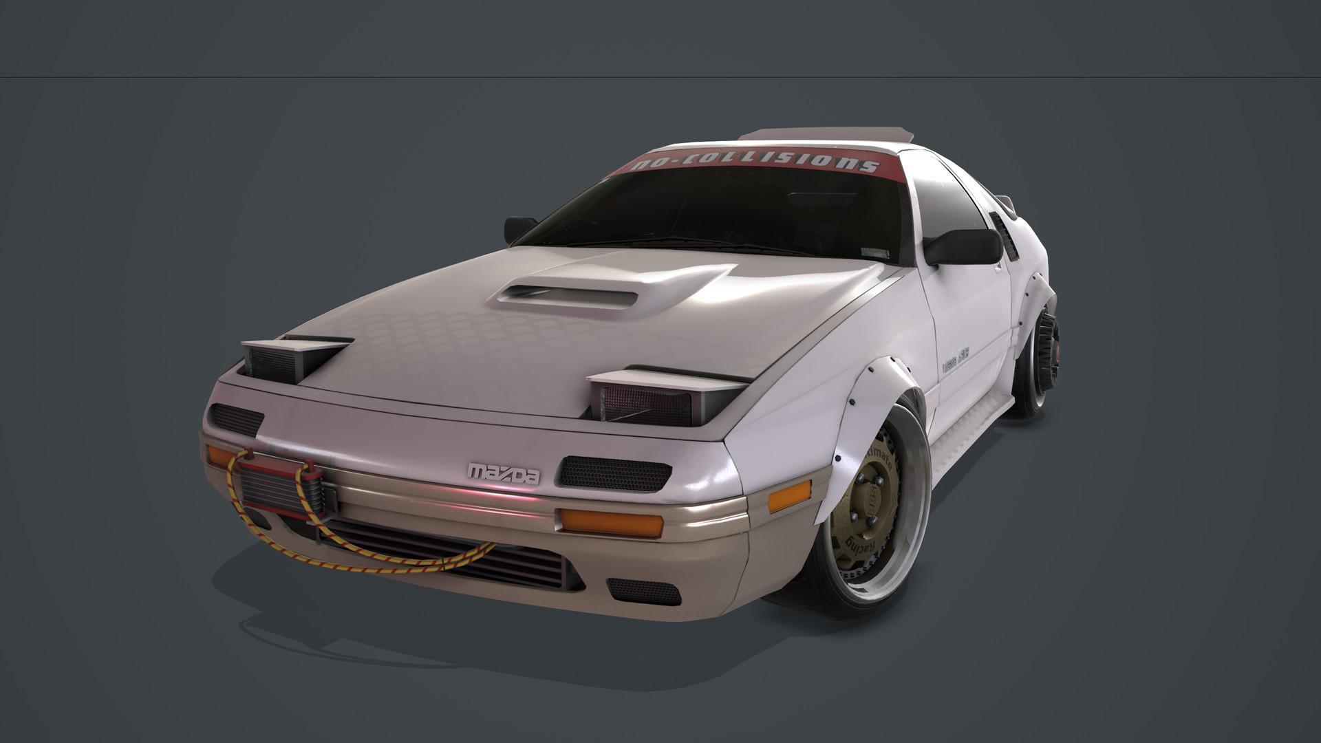 ArtStation - Mazda RX-7 FC (Near Future Mod), Hayden Jones