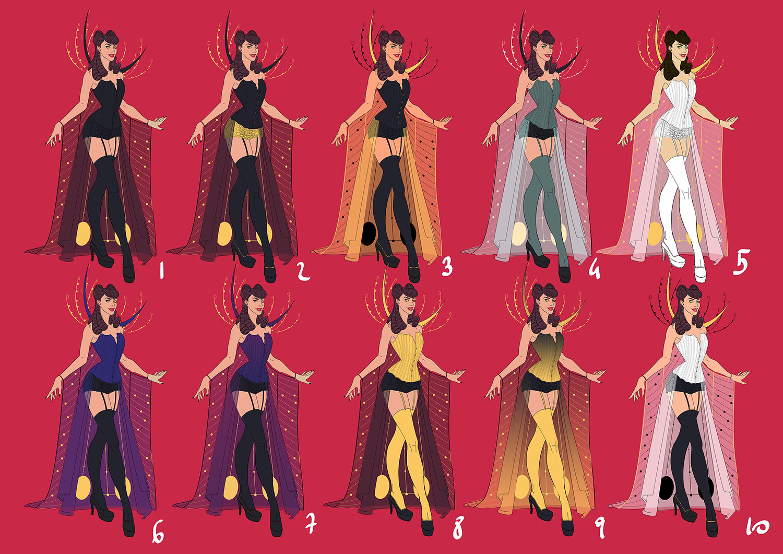 Elisa cella burlesque palette