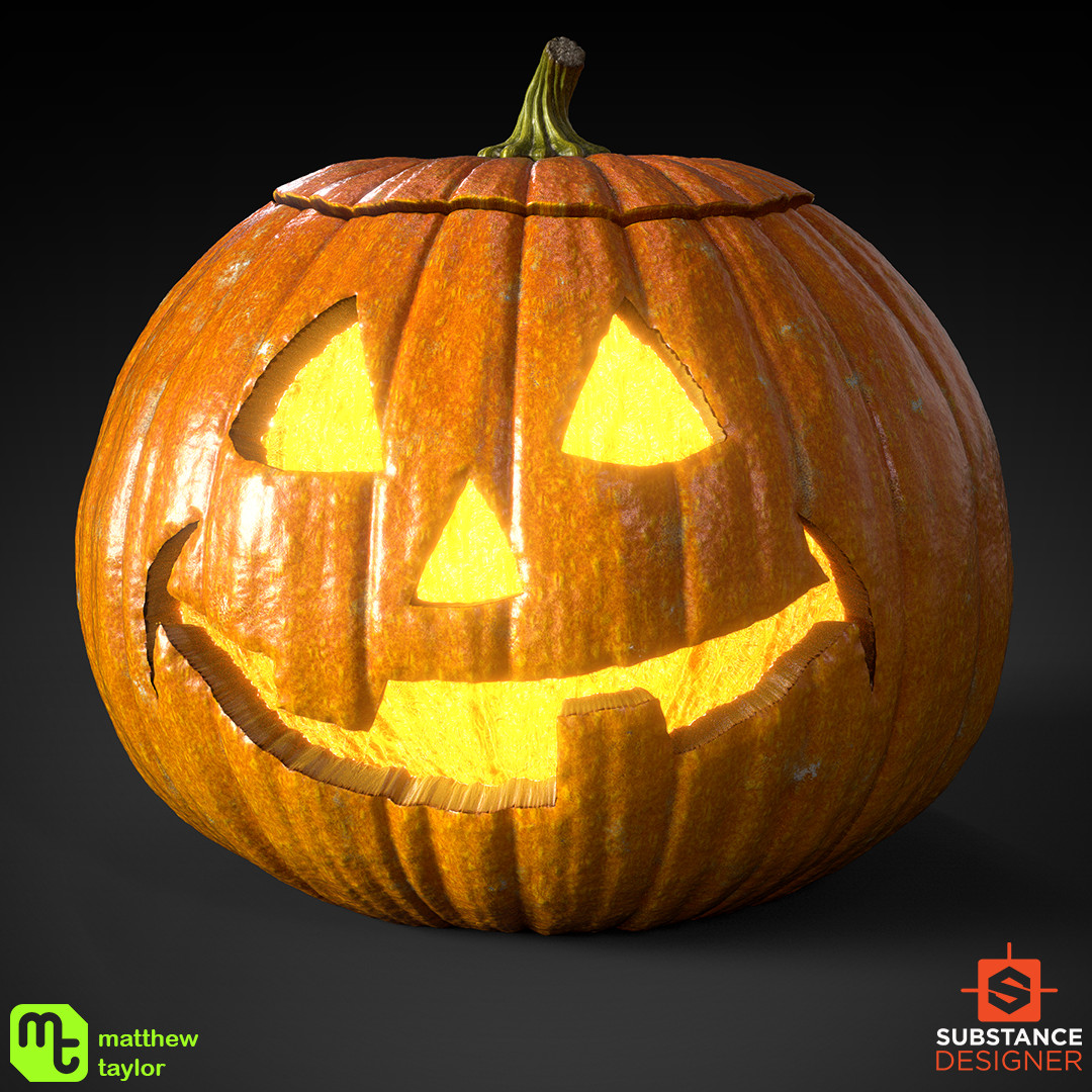 Artstation Halloween Jack O Lanterns 100 Substance Designer