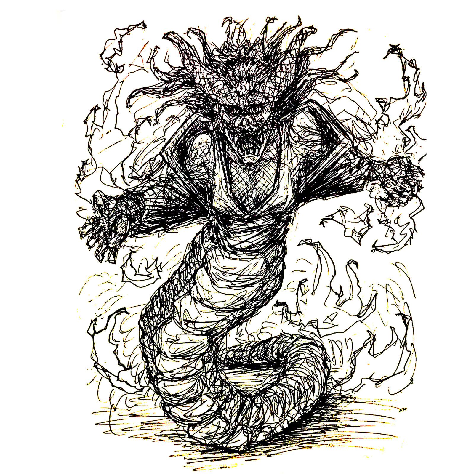 Yokai Ink Sketch