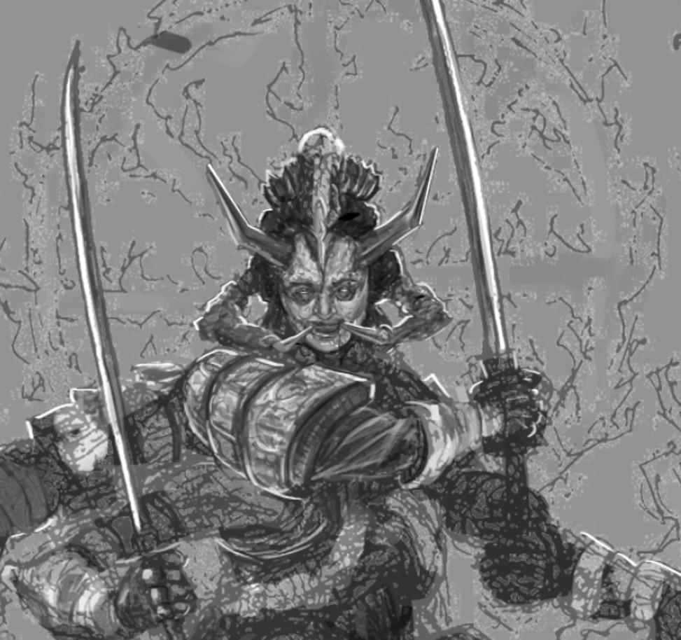 Samurai Digital Sketch