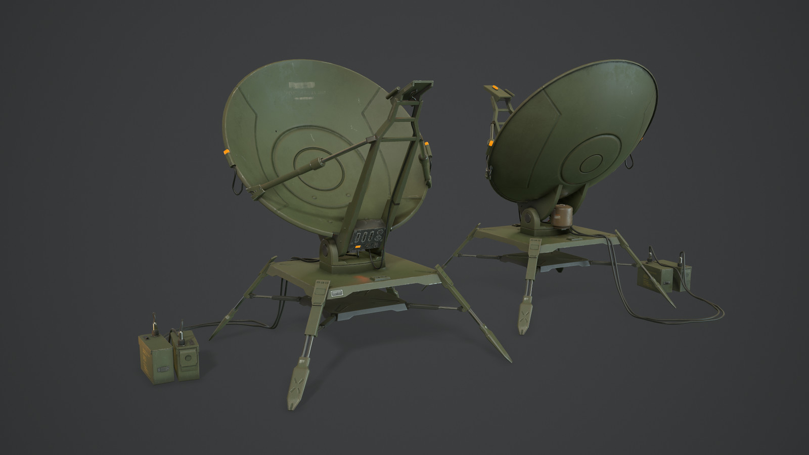 Original version - final low poly rendered in Marmoset Toolbag 3