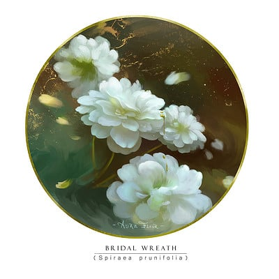 Mady madnoliet bridal wreath small
