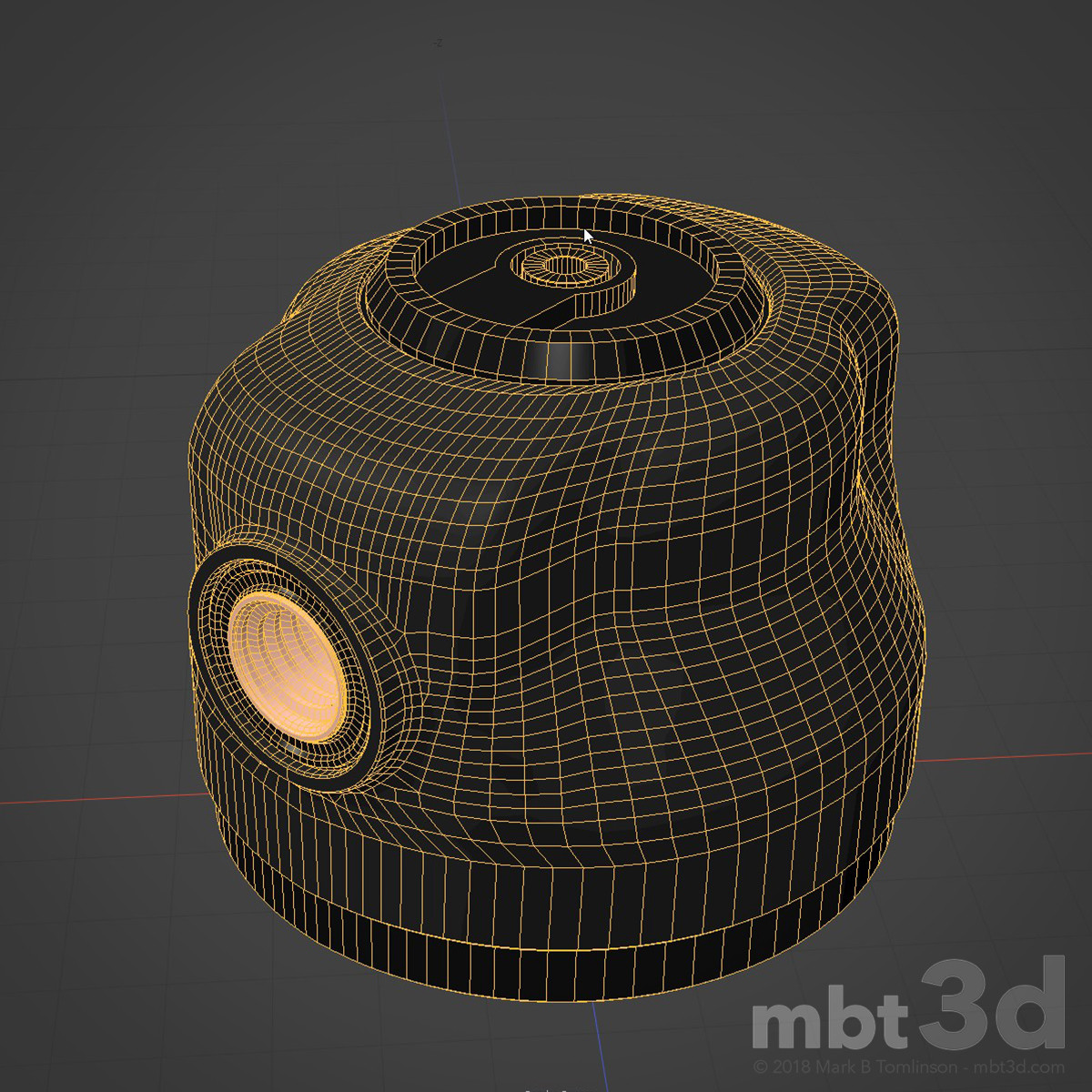 Box XIV: Hard surface model Wire