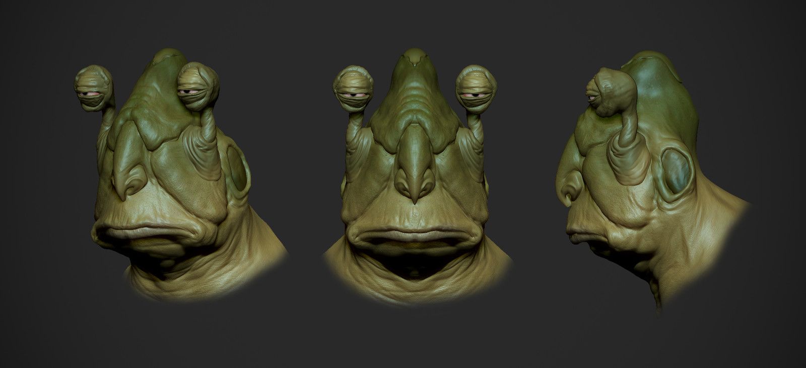 Creature from star wars concept artist P Gelev WIP