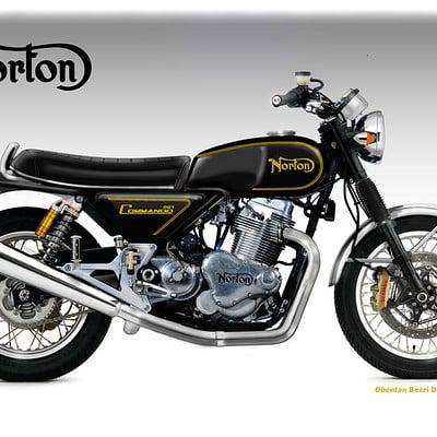 Oberdan bezzi norton commando 961 classic concept