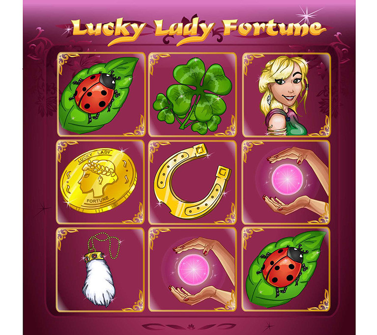"""Game UI for slots """"Lucky Lady Charm"""""""