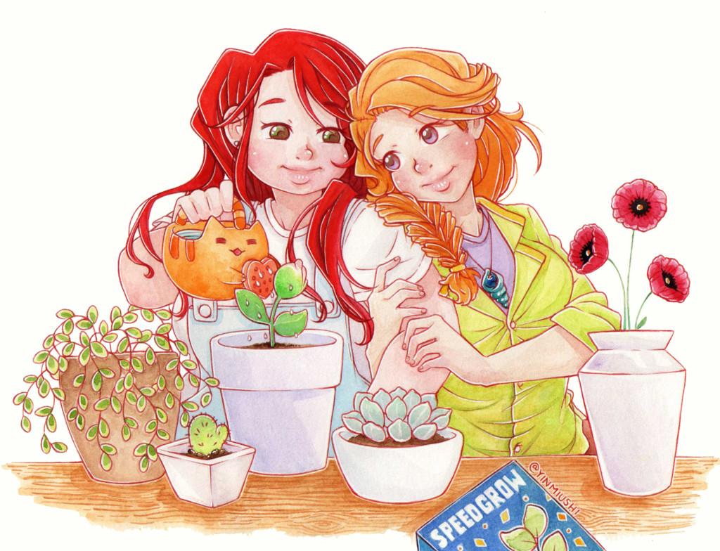 ArtStation - Watercolor Drawings, Yin Miushi