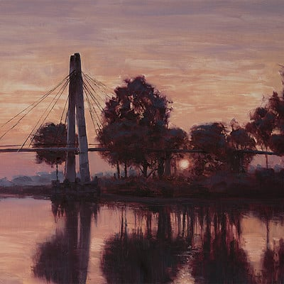 "Morning bridge -for sale 15.7x19.6"" (40x50cm)"