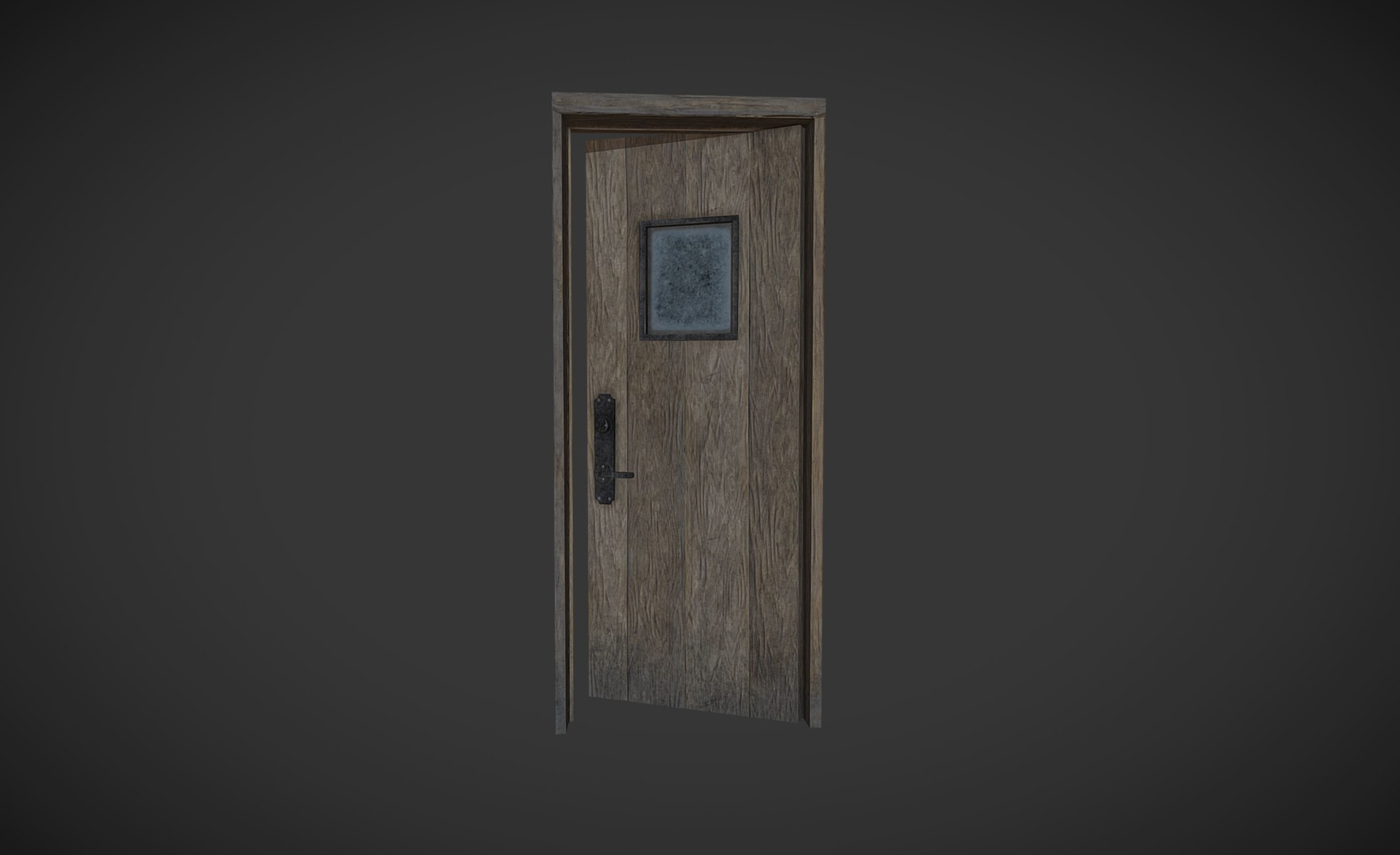 Rustic door for The Shadows Lengthen game: rear detail