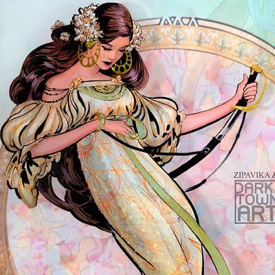 Lilyanna Art Nouveau Style