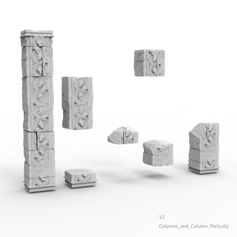 Some of the high-poly assets