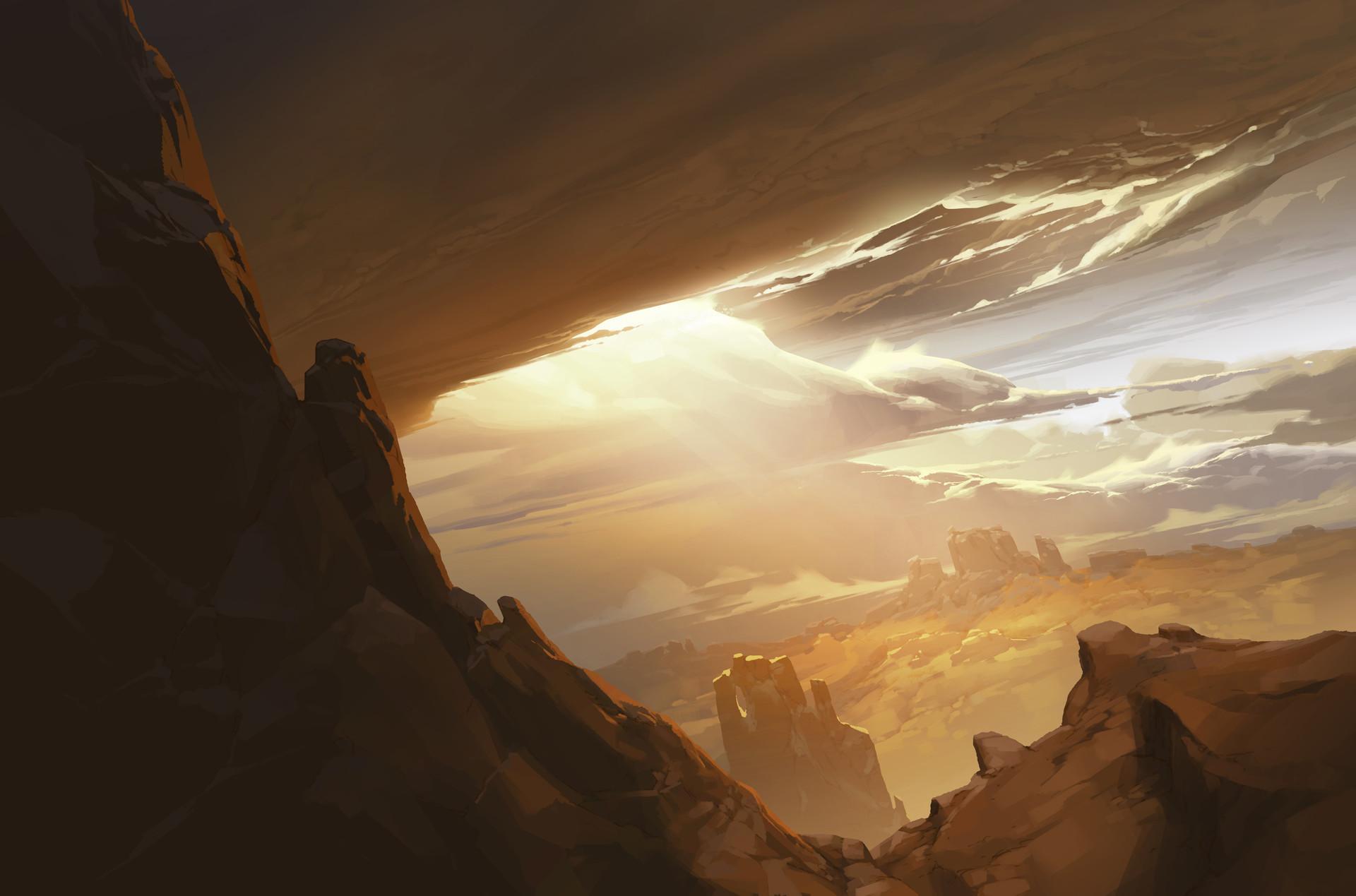 Arthur loftis rg000 bg a077 ext wide est pan down icy planet surface v4 al