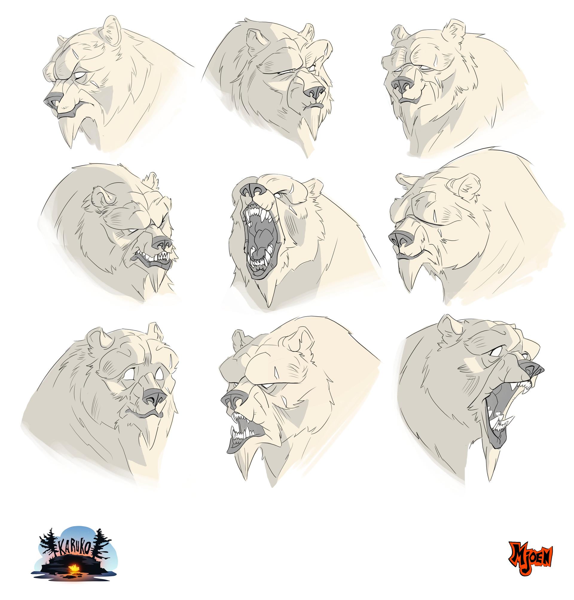 Kyle mjoen spirit bear faces