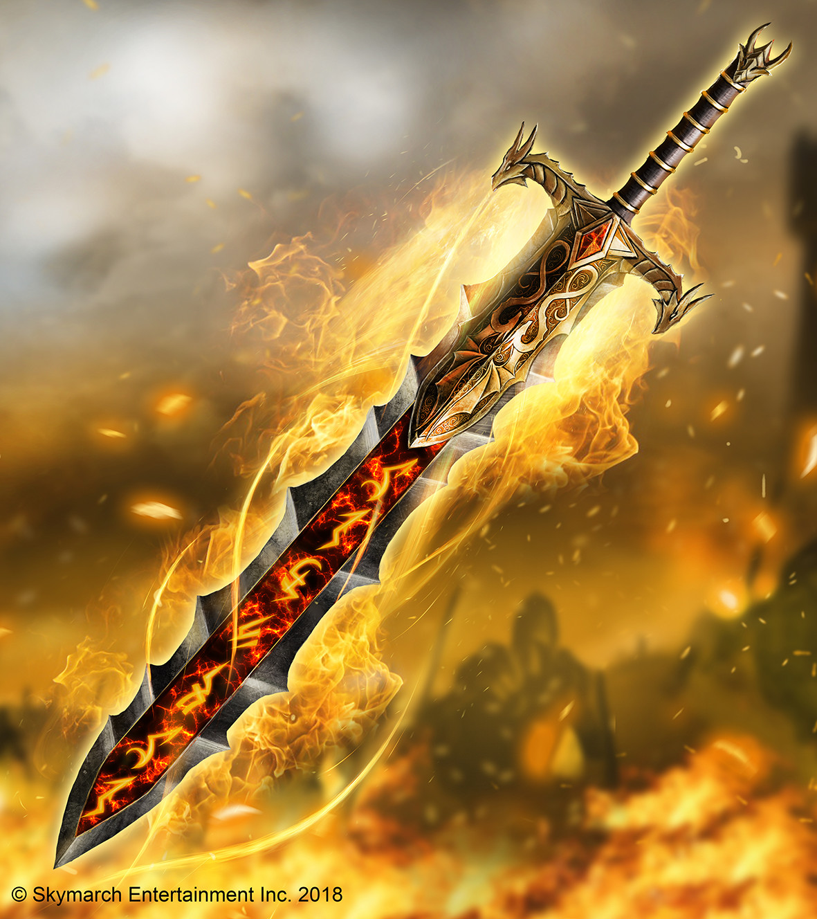 Bladefire Edge, the weapon of Corvax in his namesake.