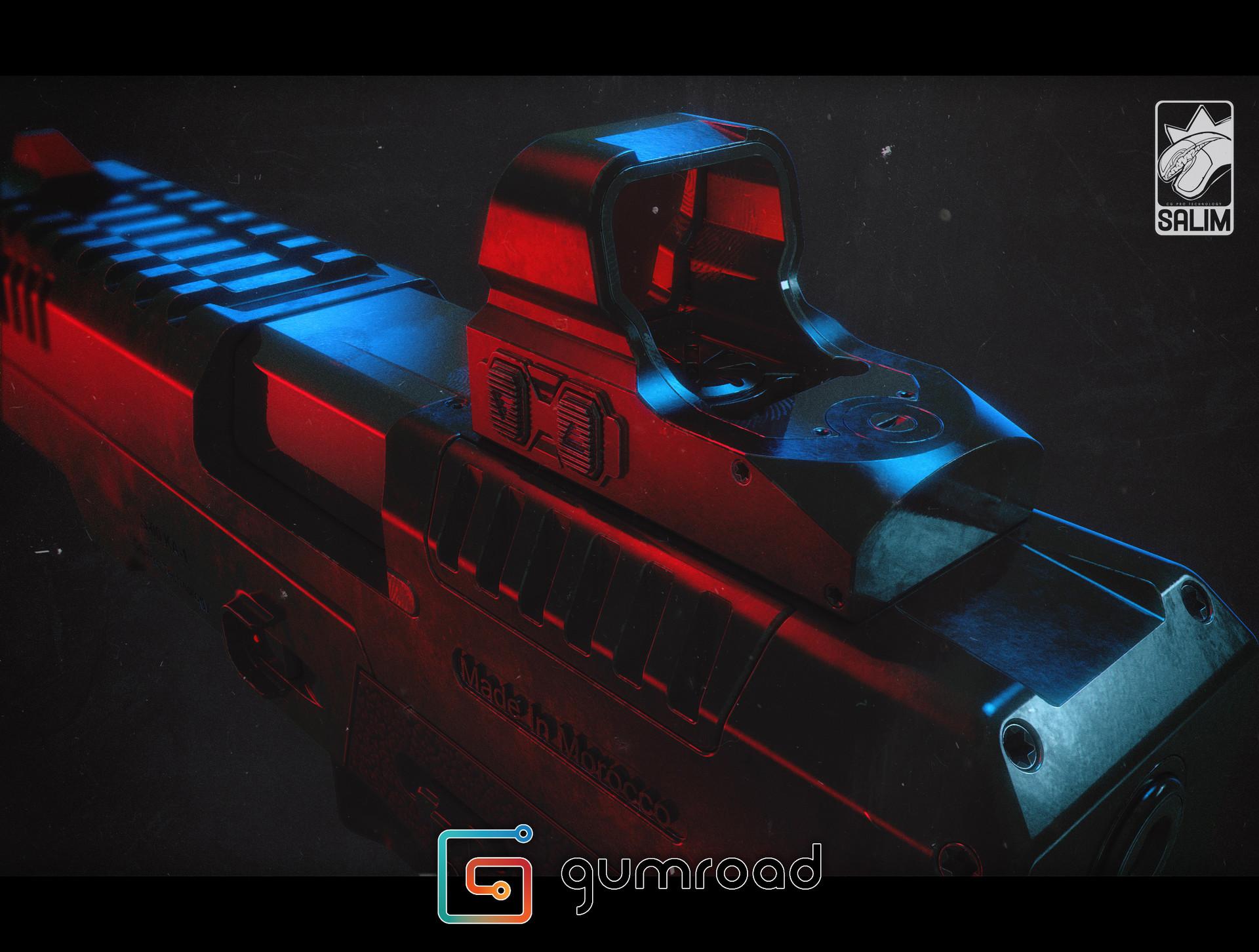 Ljabli salim gun render 01