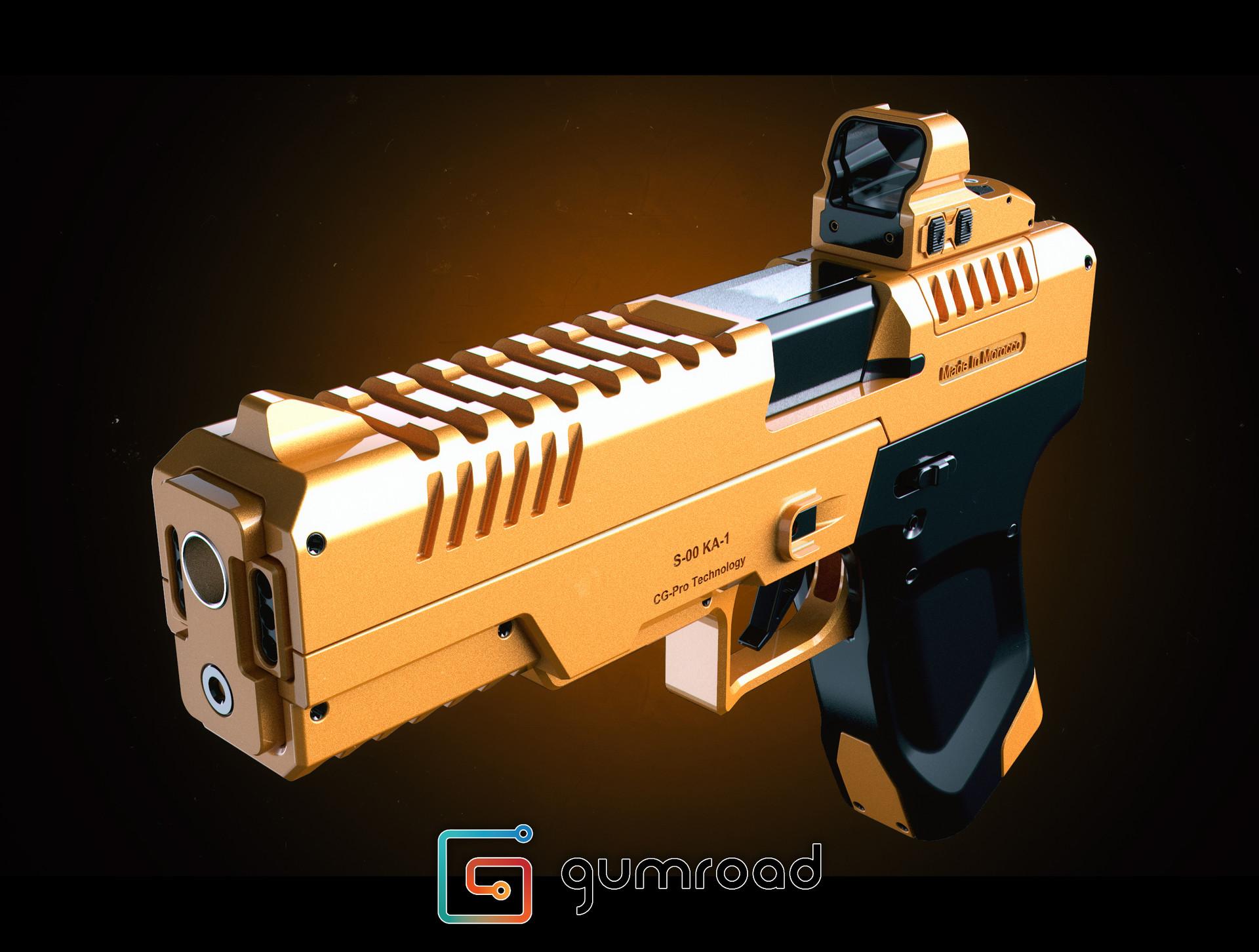 Ljabli salim gun render 04