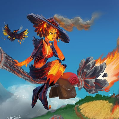 Claudia pistritto fire witch wip9 final lowd