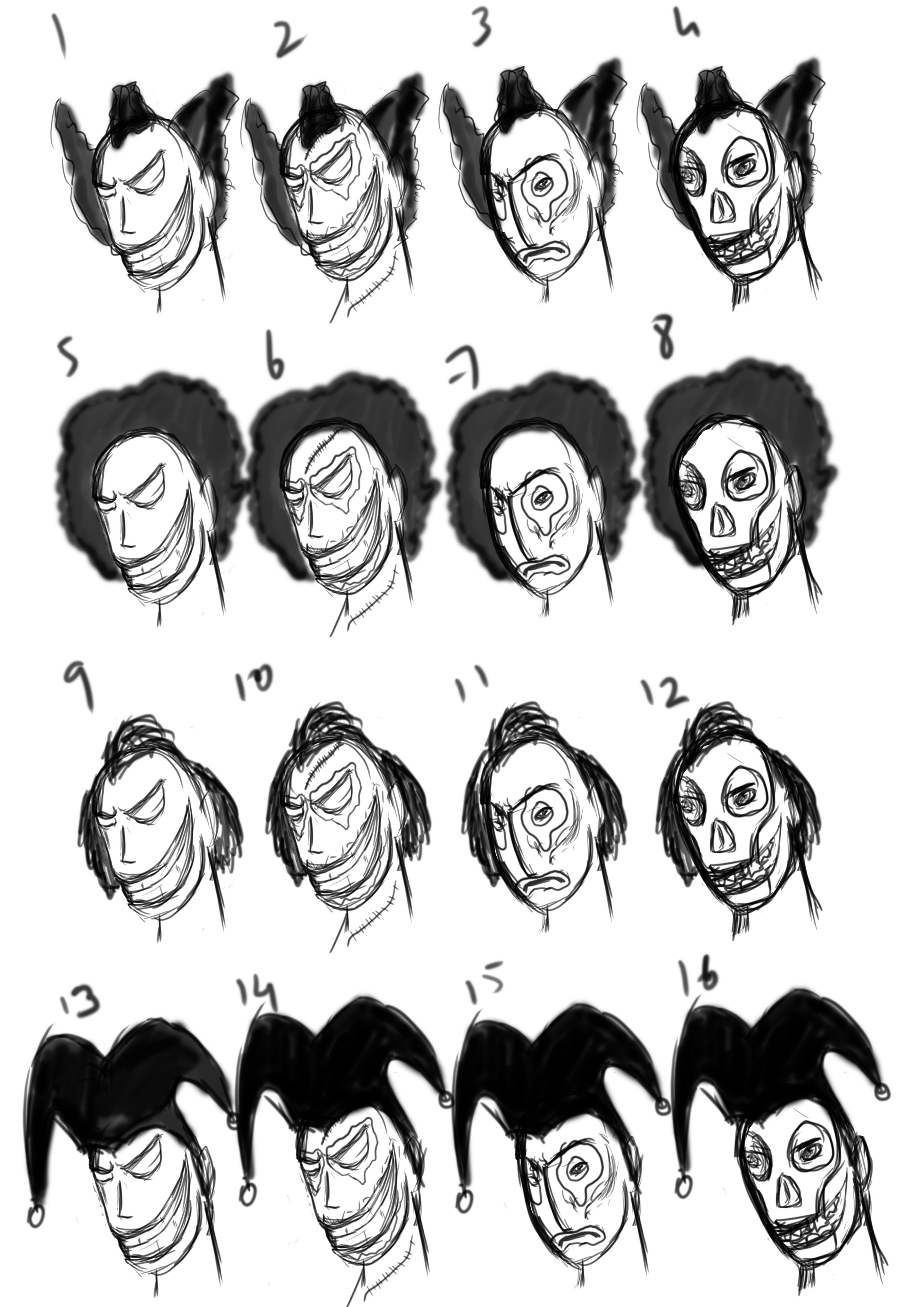 face and hairstyle concepts