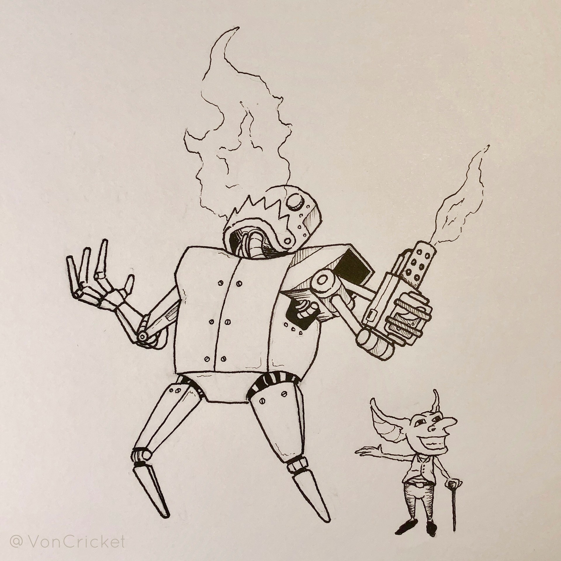 Inktober Day 3 - Roasted 