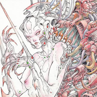 Atom cyber mechanical red wrath