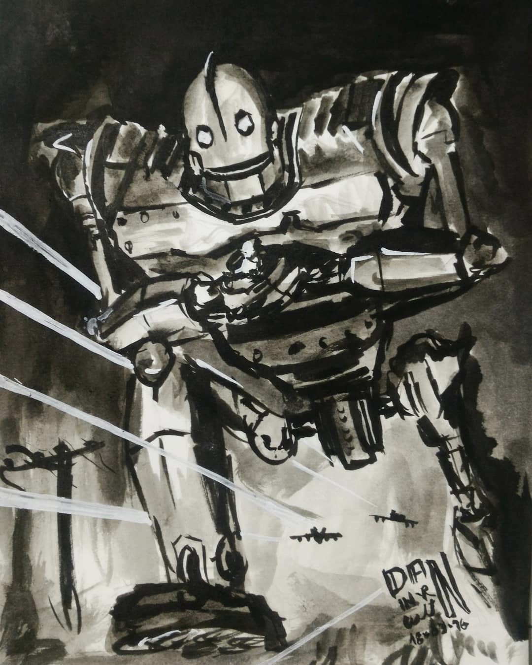 March Of Robots 16 - The Iron Giant (1999). Nanquim.