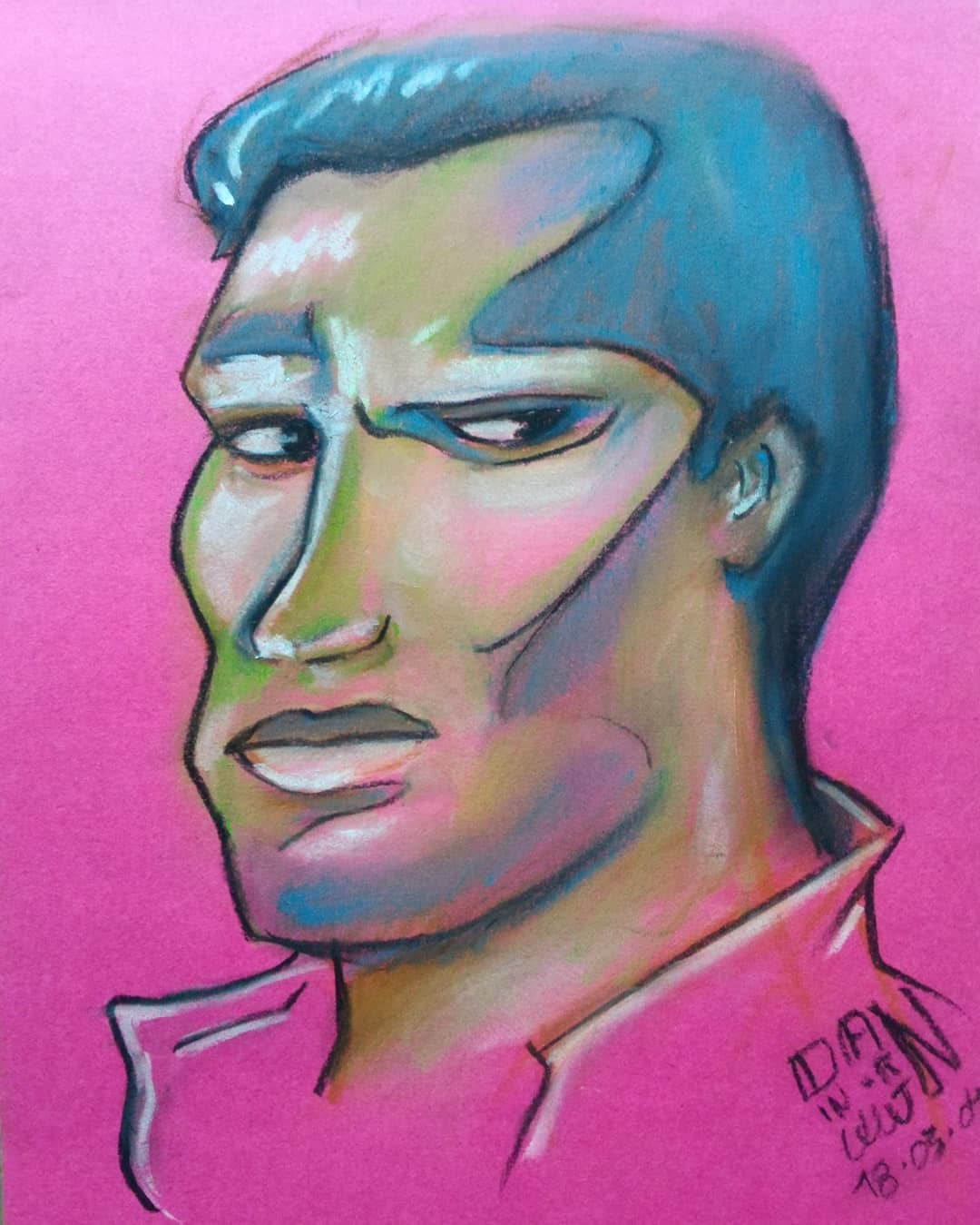 March Of Robots 04 - T-800 - The Terminator (1984) - Arnold Schwarzenegger. SoftPastel.