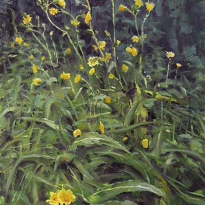 "Roadside flowers -for sale 15.7x11.8"" (40x30cm)"