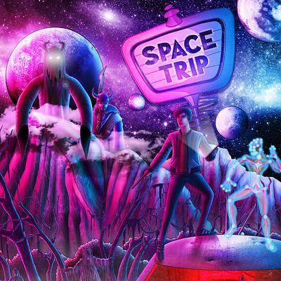 Matt fraser space trip poster