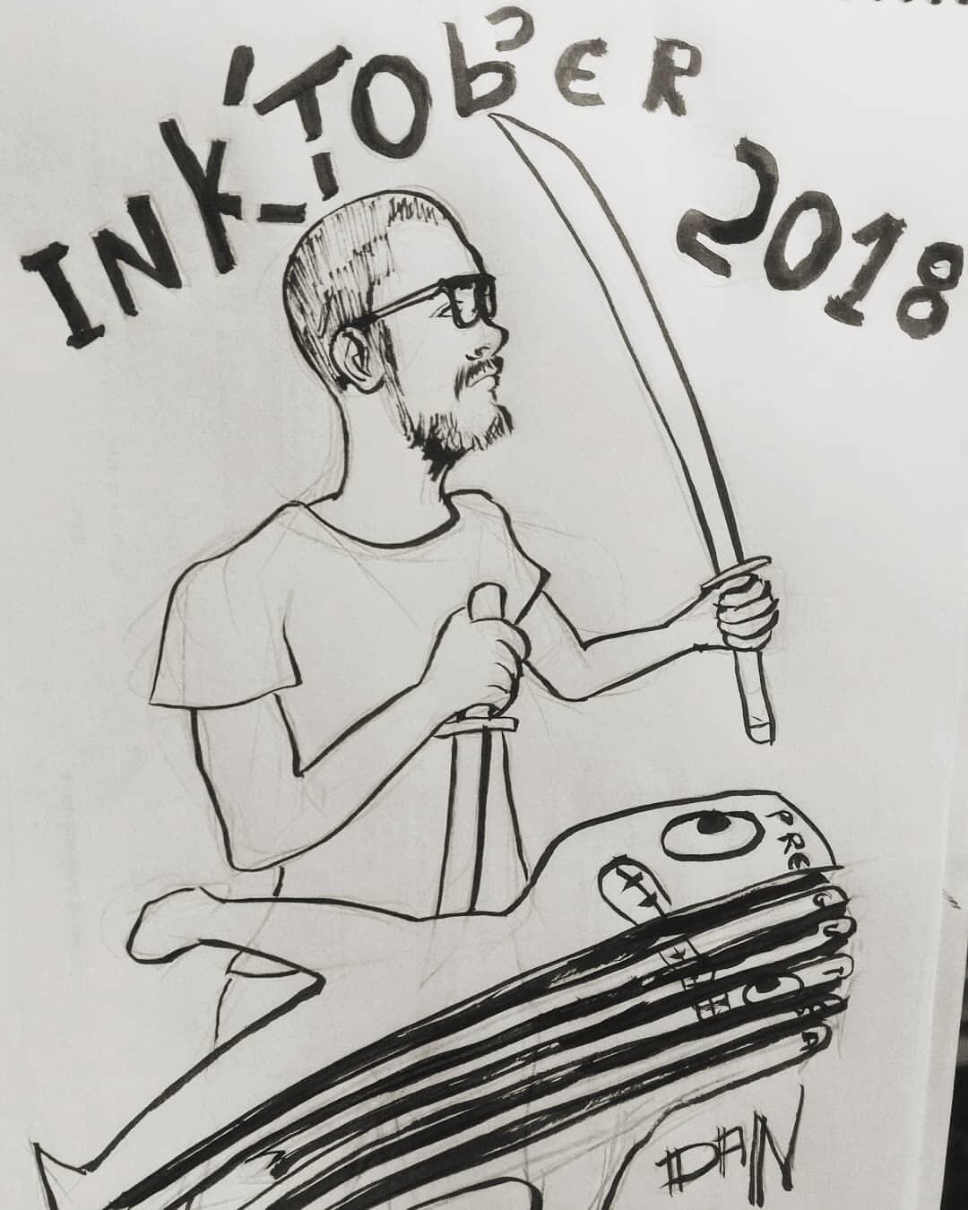 Inktober 2018 - 31: Slice / Fatia . . . Eu :) derrotando a preguiça