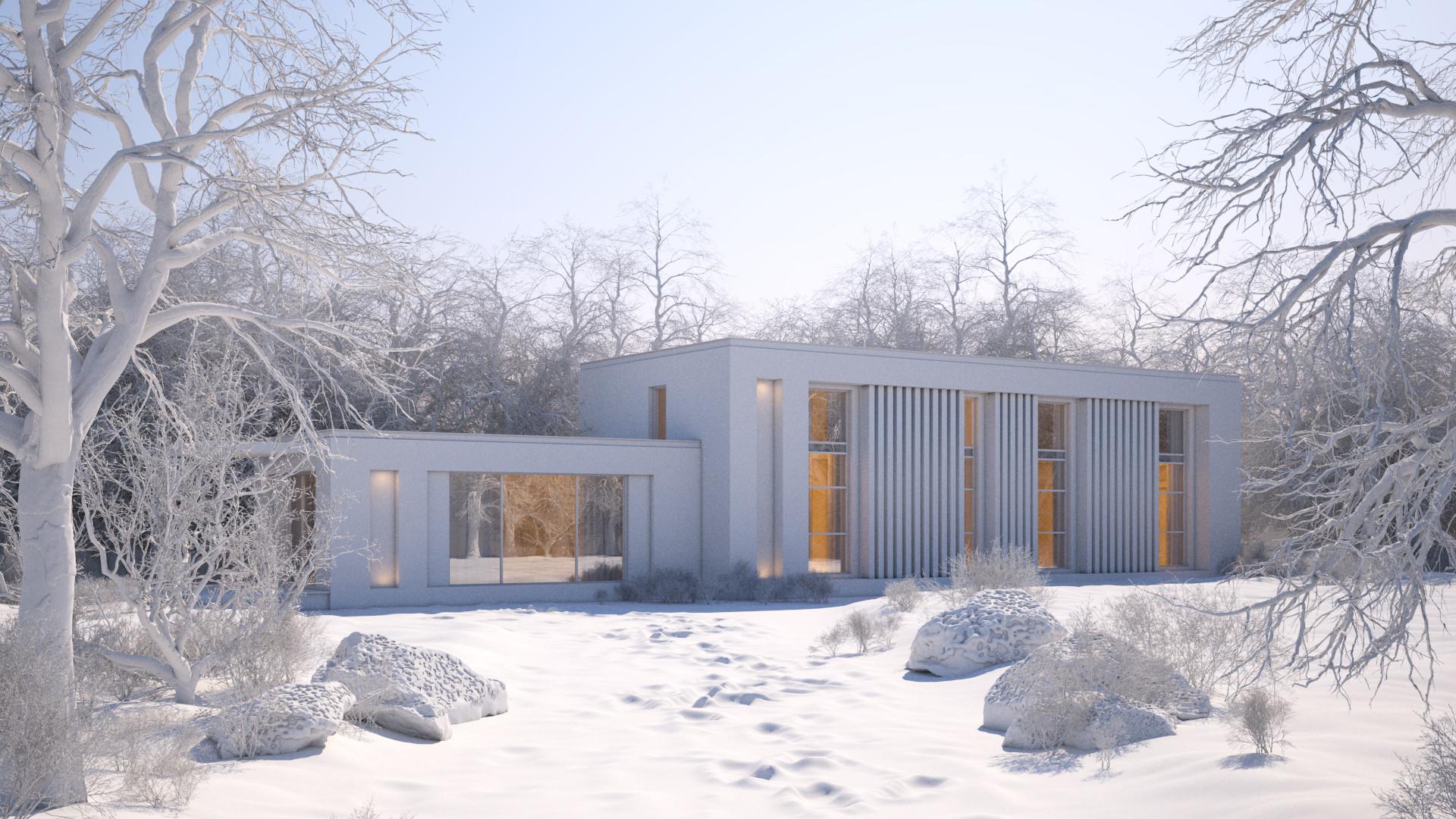ArtStation - Making of 3dsmax Vray Winter Scene, taskin altinel
