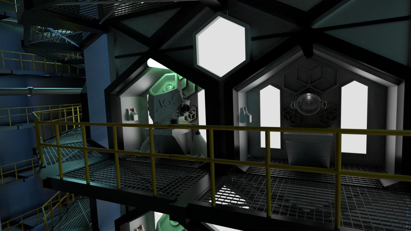 Close-up of the JOO-bot storage bays