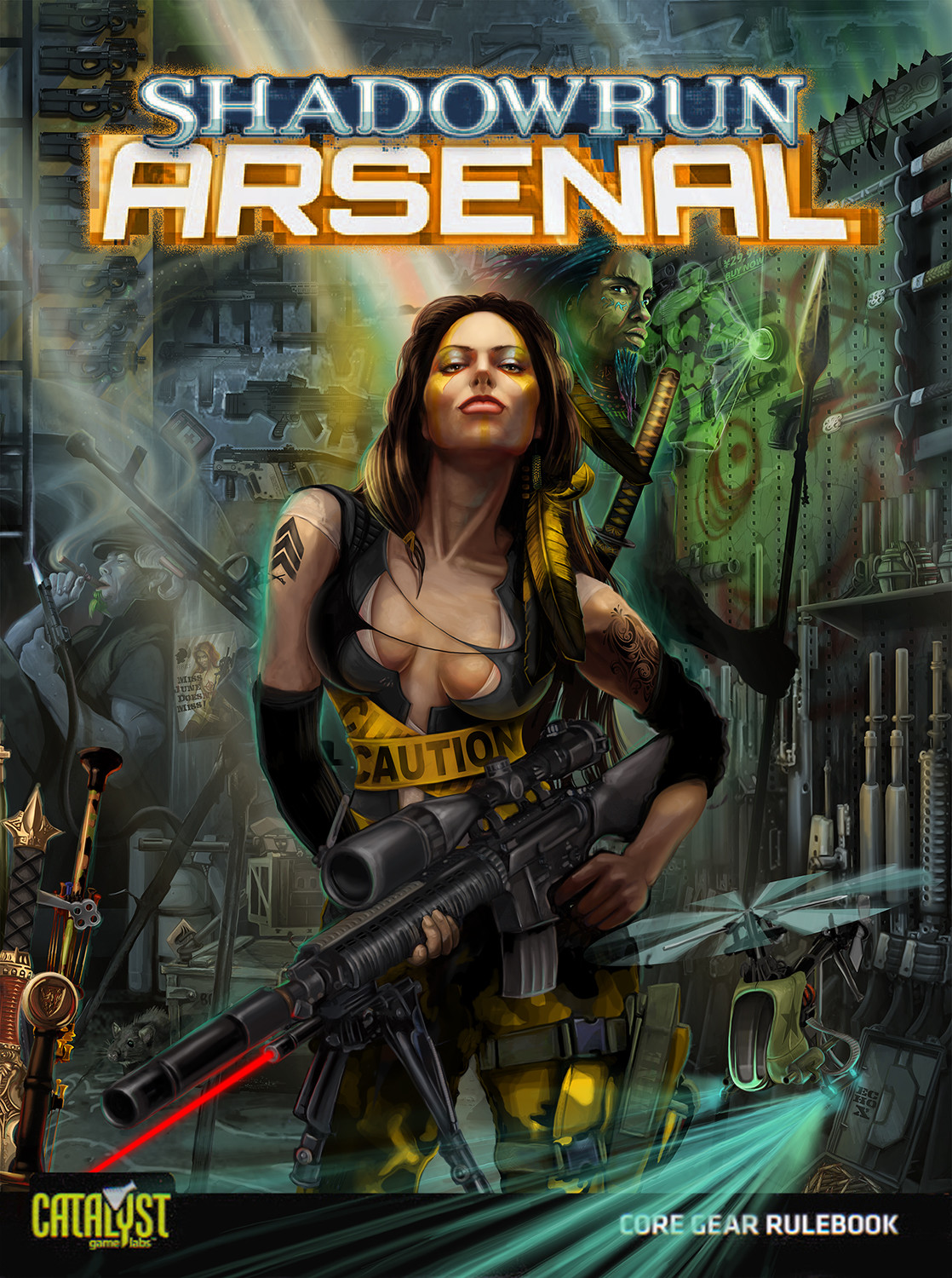 Arsenal  (Catalyst Game Labs)  (Note: Though commissioned for Arsenal and is an illustration of an arsenal, it was moved to different book titled Attitude.)