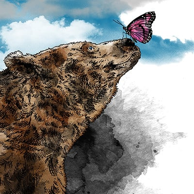 Marcus gabriel fors bear and butterfly mindre