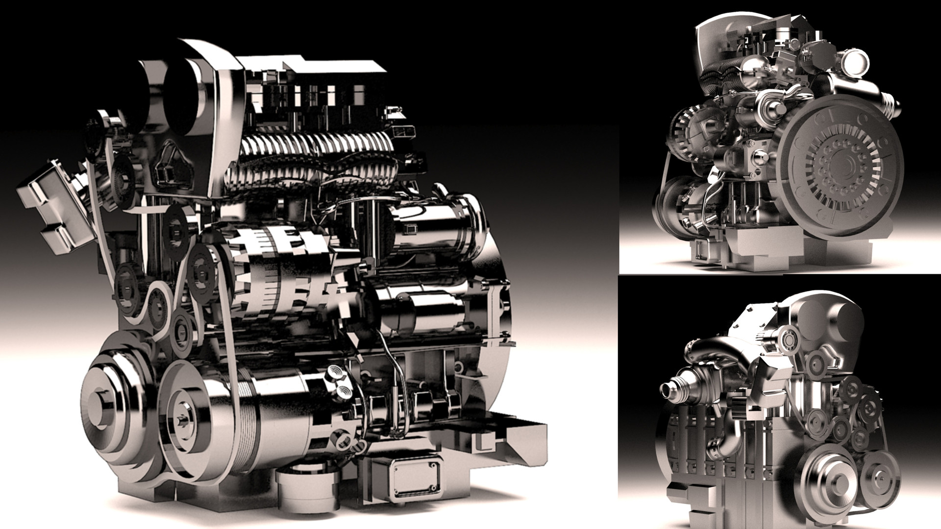 ArtStation Petrol Engine 3d Model Subhayan Dey