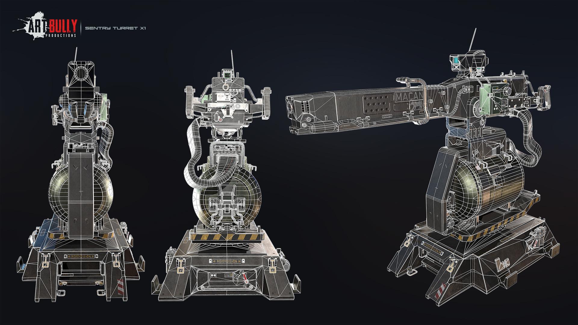 Patrick nuckels sentry turret x1 wireframe 01