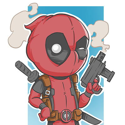 Dylan quinn deadpool chibi digital compress