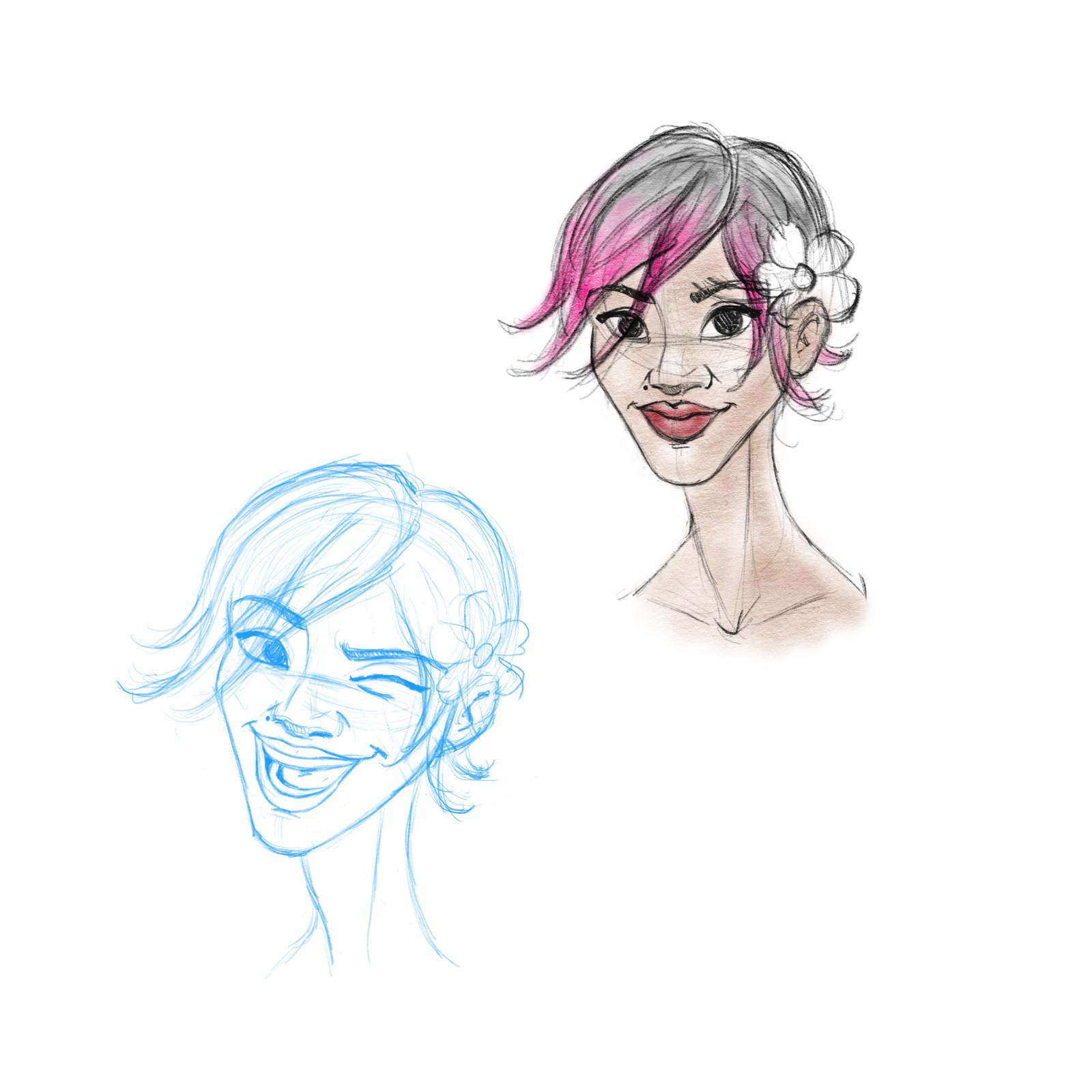 Princess Fololini Sketches