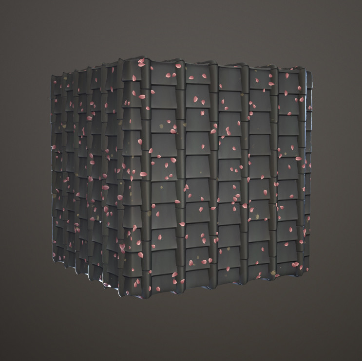 Jeff seaman dungeonjapanese rooftile02 cube